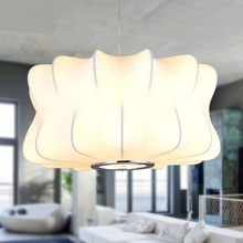 Chinese style cloth pendant lights Nordic country garden restaurant lamp counter industrial wind propeller lantern ZH