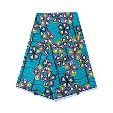 Flowers Print African Wax Fabric Hollandais Style Real Dutch Wax Cotton  Fabric for Woman Dress Skirt ec7802063d
