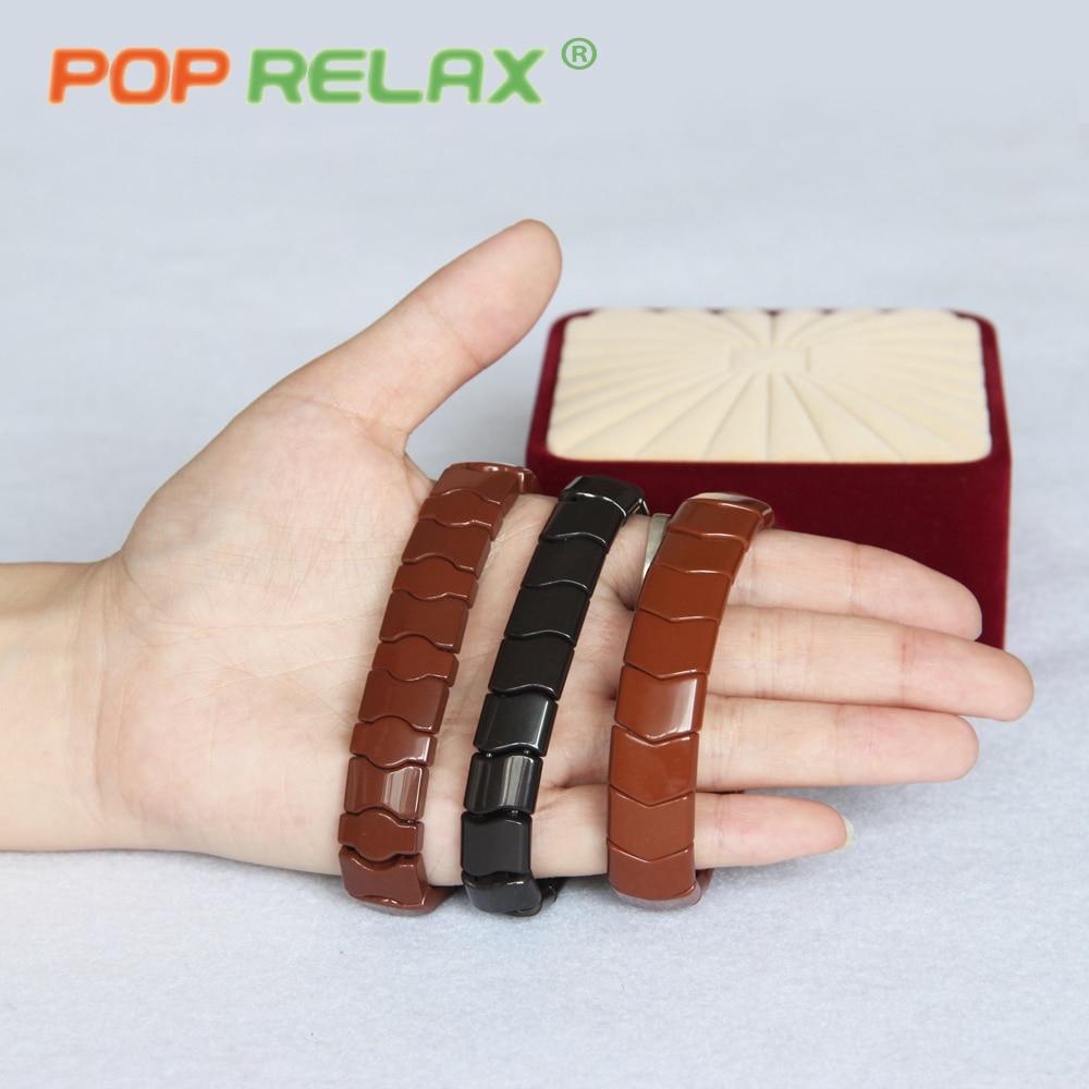 POP RELAX  health care Korea tourmaline germanium bracelet physical therapy negative anion stone new fashion jewelry bracelet <br>