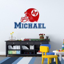 Special Custom-made Personalized Name Initial Name Wall Decal American Football Wall Decals Nursery Wall Stickers DIY Home Decor