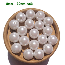 Snow White Pearl Bubblegum Large Jumbo Round Chunky Beads Supplies A63 4mm 6mm 8mm 10mm 12mm 14mm 16mm 18mm 20mm 23mm 25mm 30mm(China)