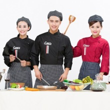 New Arrivals Long Sleeved Western Food Chef Costume for Women Men Hotel Restaurant Working Wear Chef Uniform Clothes(China)