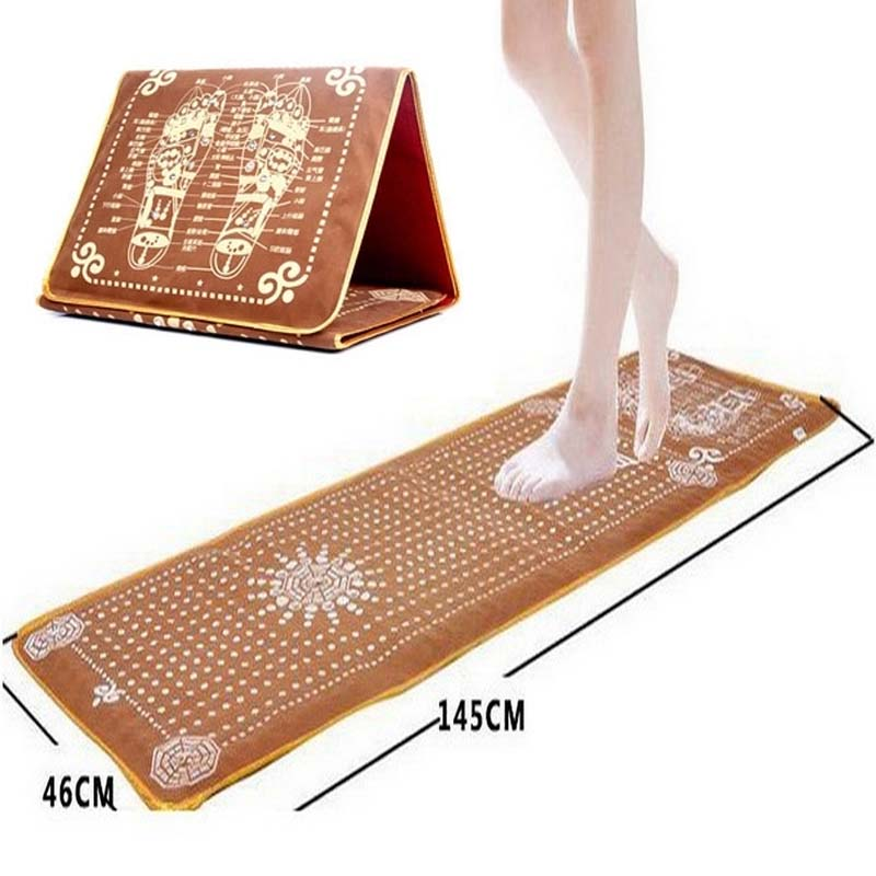 145*46cm Tourmaline Blanket Mat Foot Massage Pad Foot Pad Shortfalls Energy Massage Mat Walking Carpet Promote Blood Circulation<br><br>Aliexpress