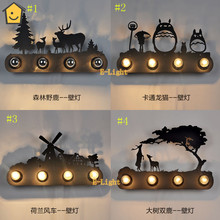 Horse and sheep Modern home decoration Loft American Style Bedroom Wall Personalized horse Lamp Vintage Bookshelf Lights