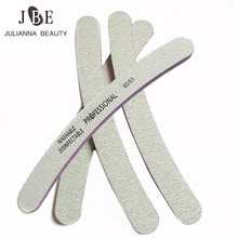 4Pcs Nail Art Sanding Salon Buffer 80/80 Nail File Sandpaper UV Gel Polisher Cuved Nail File Manicure Tool Supplier Wholesale(China)