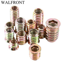 20pcs Screws Self-tapping Wood Screws Insert Nut Carbon Steel Hex Socket Drive Head Nut Drive Nut Threaded For Wood Furniture(China)