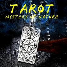 Beier 316L Stainless Steel Necklace New Arrival Tarot Card Pendant Fashion Jewelry BP8-219(China)