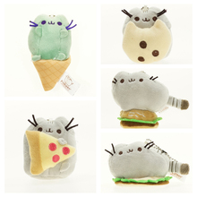 Kawaii Cartoon Soft Plush Stuffed Animal Pusheen Cats Dolls Cushion Kids Toys for Girl Birthday Gifts with Key Chain Ice Cream