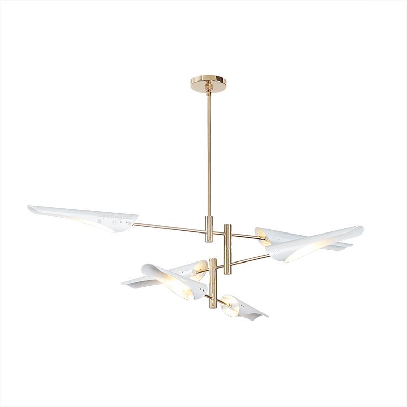 LukLoy Post Modern Metal Branch Chandelier Nordic Hanging Lamp Light Lighting Fixture Creative Personality LED Pendant Light (21)