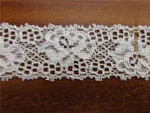 For shipping 20yards/lot Width 3.5CM white Super Elastic Lace Fabric diy clothes fabric accessories