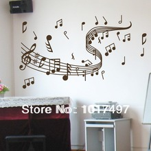 "amazon hot selling large size 39""x23.6"" WALL'S MATTER Home Decor Music Note Wall Decals Graffiti Wall Stickers,Y1000(China)"