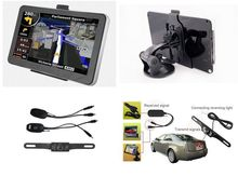 "Classic 7"" Touch Screen HD800x480 Car GPS Navigation CPU800Mhz 128M/4GB with Bluetooth AV-IN+ FM + Free latest Maps"