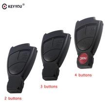 KEYYOU 2/3/4 Button Keyless Entry Smart Car Remote Key Shell Fob Case Mercedes Benz B C E ML S CLK CL