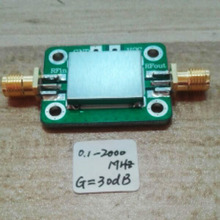 LNA 0.1-2000MHz Gain:30dB Broadband RF amplifier Signal Receiver for FM HF VHF / UHF Ham Radio