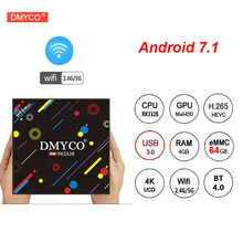 Buy H96 MAX H3 4GB 64GB Android 7.1 TV box Rockchip RK3328 Quad-core 4K Smart Tv VP9 HDR10 USB3.0 WiFi Bluetooth 4.0 Media Player for $44.98 in AliExpress store
