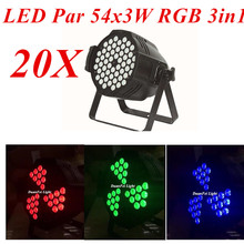 DuanFly DuanFei Light 20pcs/lot 54x3w rgb led par can light 3in1 dmx512 for dj party lighting club