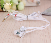 kecesic 20 pc/lot In ear Headset Colorful Flat wire Portable Bass Cheapest Earphone Good Quality for Samsung xiaomi Phone  MP4