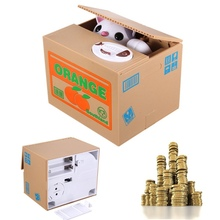 Fashion Cute Funny Lovely Novelty Animal Coins Bank Animal Steal Coins Piggy Bank Cent Saving  Box Pot Case For Gift