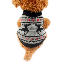 Armi store Autumn / Winter Christmas Deer Pattern Dog Sweater Festival Sweaters For Dogs 6091002 Pet Clothing Supplies 5 Size(China)