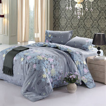 Home Textile Polyester Cheapest Price Duvet Cover Sets Twin/Full/Queen Size Plant Floral Design Queen Duvet Set