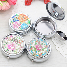 Creative Preciosity Fashion Round Cigarette Keychain Portable Ashtrays Stainless Steel Pocket Ashtray Cinzeiro Random Delivery(China)