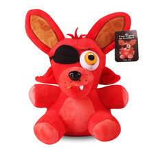 25cm fashionable soft action figures Five Nights at Fredding's Freddy Fox Short-Plush Stuffed Companion Toys for children