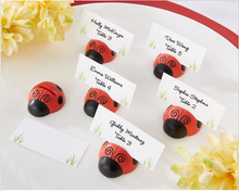 100pcs/Lot Wedding decoration and supplies Ladybug Place Card/Photo Holder Baby Party Decoration Favors(China)