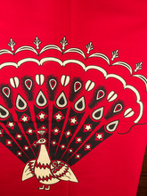 Authentic African Fabric Real Wax Red Black Peacock Animal Designs rw703103(China)