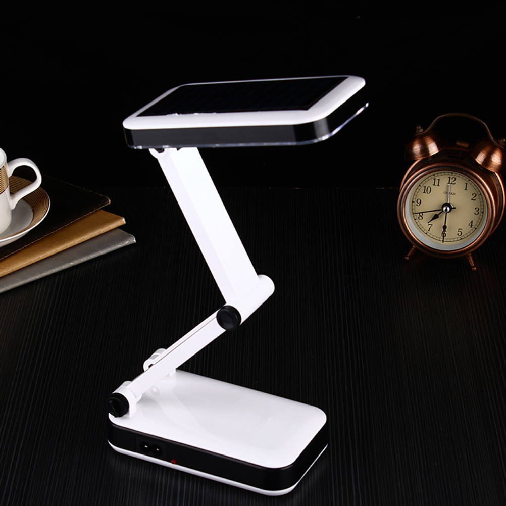 LED Desk Lamp Portable Solar Powered Foldable Lights Rechargeable Reading Lamps For Office Home Portable Light (US Plug) <br><br>Aliexpress
