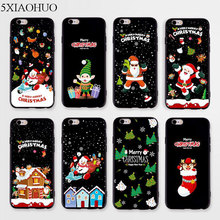 Merry Christmas Case For iphone 7 8 6 6s Plus 7Plus soft silicone christmas lips Macaron dessert For iphone 7 plus Cover