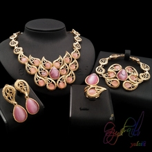 Yulaili Bridal Sets Bravery Making Supplies Italian Graceful Jewelry Set(China)