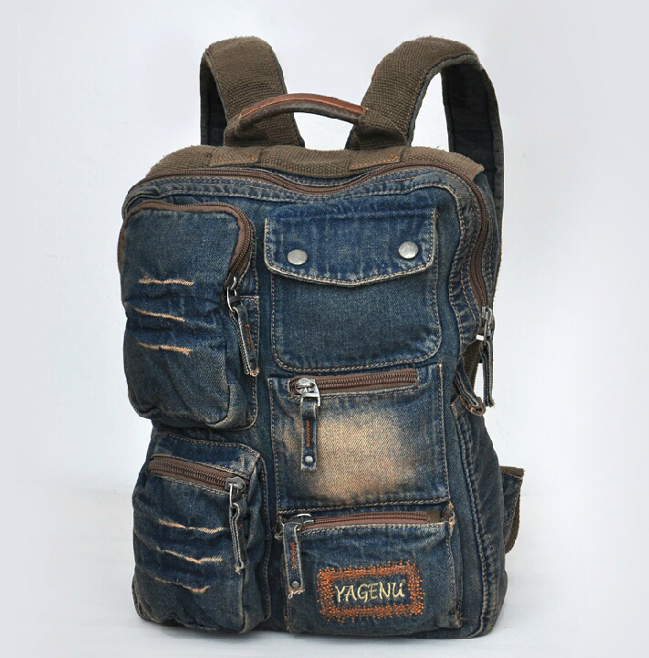 ETN BAG brand high quality hot sale best seller men backpack male fashion denim travel backpack man vintage backpack travel bag<br>