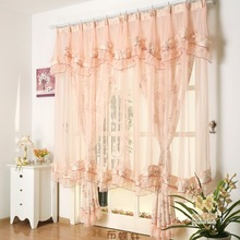 Super Fairy Lace Jacquard Curtains for Living Dining Room Bedroom Korean Rural Married The Princess Room Senior Design Setting