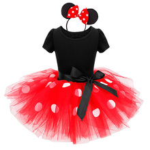 Easter Carnival Costumes For Kid Girl Minnie Mouse Princess Dress For Girls White Lace Party Dress 2018 Summer Children Clothing(China)