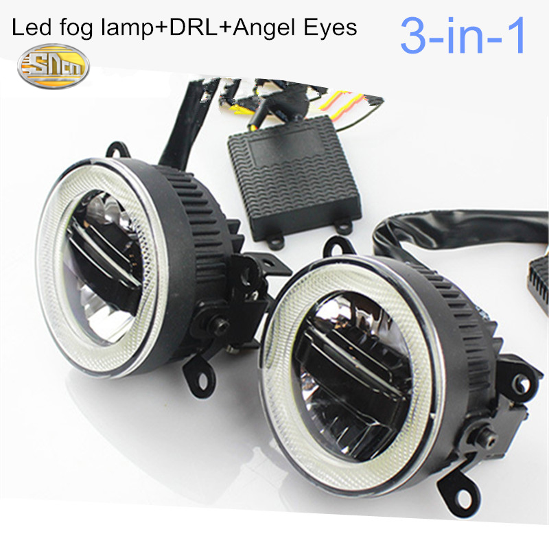 SNCN LED Fog Lamp for Ford Focus 2006~2015 LED angle Eyes Daytime running lights<br>