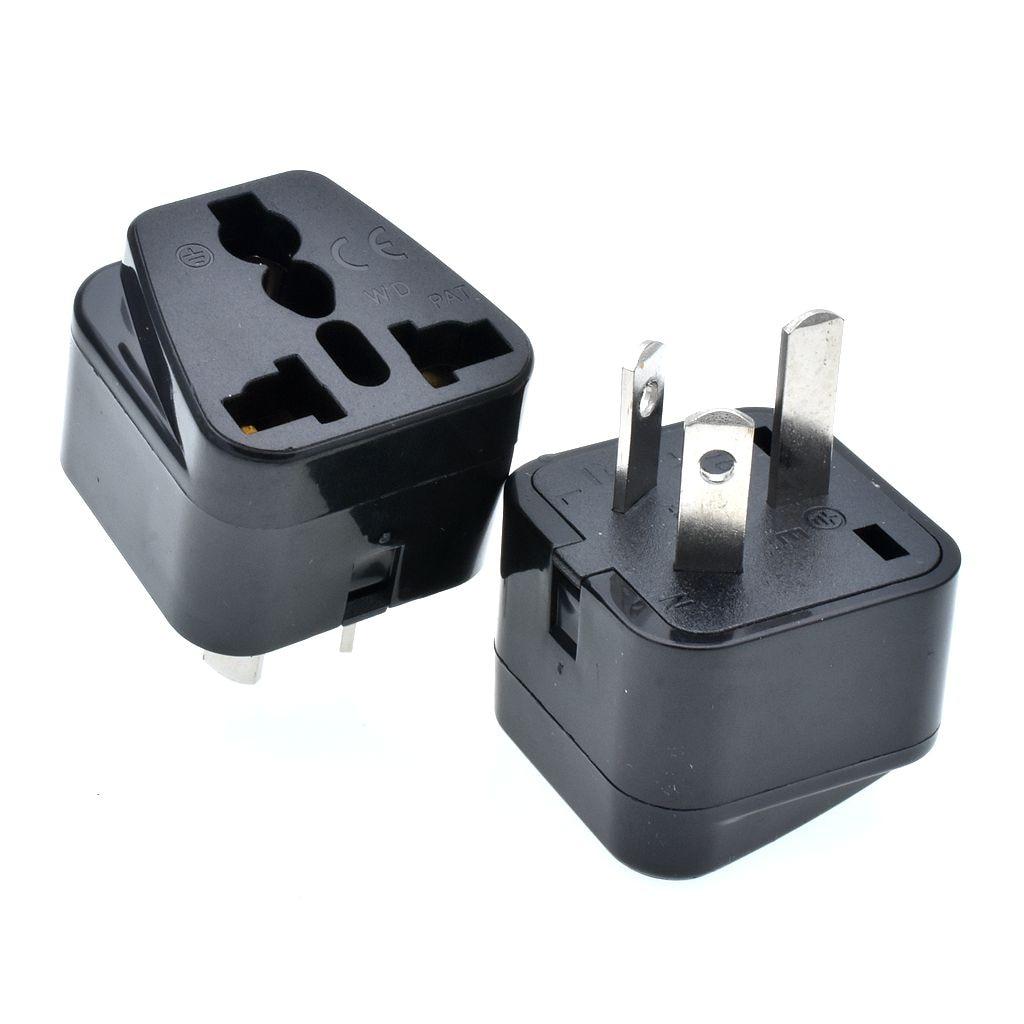 10pcs  Australian/China type Travel Adapter IEC Type I  Plug Change US/EU/UK/Swiss/Italy/Japan to AU 3 Pin