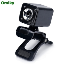 USB 2.0 0.3MP 4 LED HD Webcam Web Cam Camera with MIC for Laptop Computer