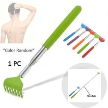 2017 Stainless Steel Back Scratcher Telescopic Portable Adjustable Size Extend To 68cm Itch Aid Scratch Tool With Soft Grip