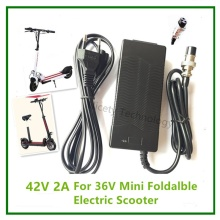 42V2A li-ion battery charger for 36V Electric Scooter  lithium battery  for 2 wheels folding  or E-Scooter hoverboard