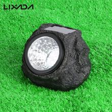 4LED IP65 Water Resistant Simulation Artificial Stone Style Solar Powered Light Sensor Outdoor Decoration Night Lamp for Garden