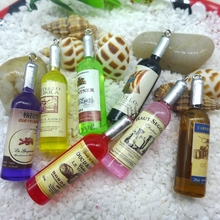 Kawaii wine Bottle Resin Cabochon Craft For diy mobile phone case headband supplies Decoration(China)