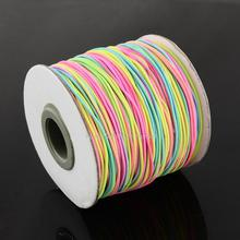 Round Elastic Cord, with Nylon Outside and Rubber Inside, Colorful, 1mm; 100m/roll
