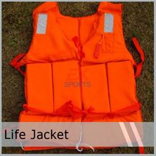 1X adult life jacket Orange Foam Swimming Life Jacket Life Vest for adult with whistle Flotage of inflatable boats ES1022