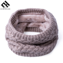 New 2017 Fashion Brand Scarf For Women Winter Knitted Scarves Cotton Warm Women's  Neck Scarf Ring Men Loop Scarf Unisex