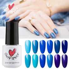 Gelfavor Bule & Gray Color Series 7ml UV LED Gel Polish Pure Colors Nail Gel Polish Nail Gel(China)