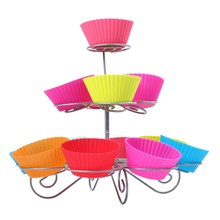 party decoration best performance 3 tier 13 cupcakes cake pop stand and Lollipop Holder Cake Tools E5M1(China)