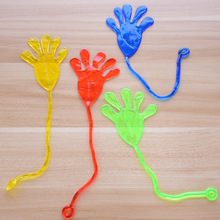 10pcs Cute Glitter Sticky Hands Gags Funny Adult Gadget Practical Jokes Gag Lover Gifts Toys For Children Baby Kids(China)
