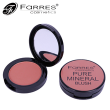 New Brand Contouring Makeup Face Blusher Powder Palette Waterproof Red Color Pigments Minerals Make Up Blush Palette(China)