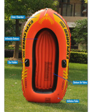 INTEX 2 PersonS Inflatable Fishing Boat Kayak Canoe For Drifting Surfing Sandbeach With Oars And Hand Pump
