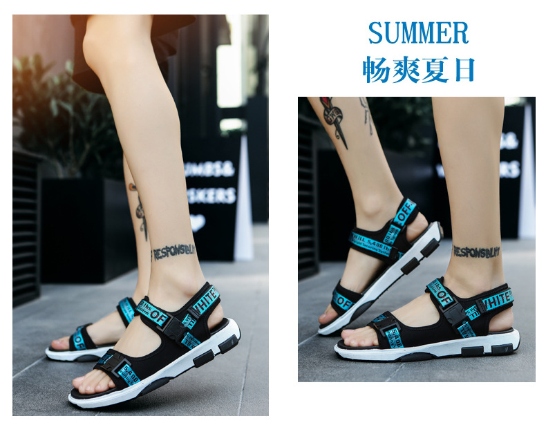 Summer Men Beach Sandals Fashion Breathable Walking Shoes Male Adult Comfortable Flat Sandals Outdoor Footwear Chaussures Homme 24 Online shopping Bangladesh